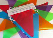 recycled bunting, eco wedding decorations, green weddings