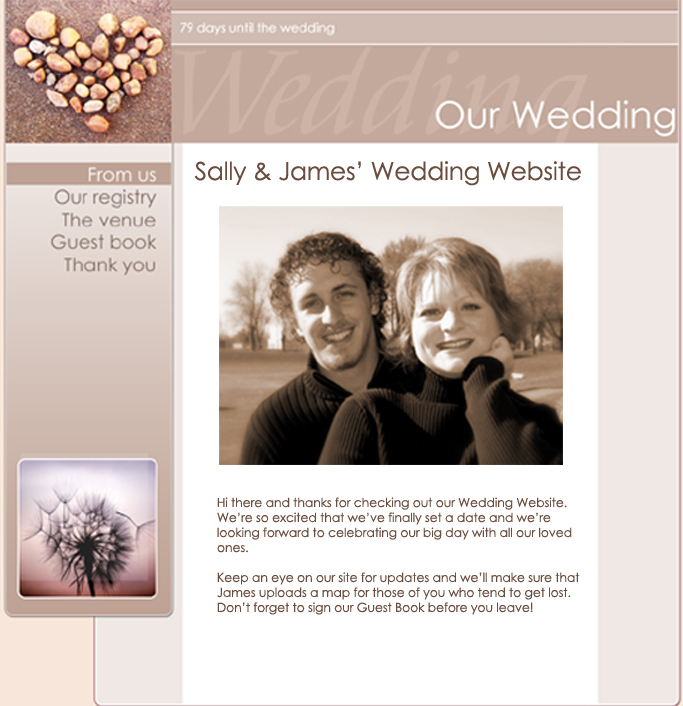 Wedding Gift List Website Uk : free wedding and celebration websites for all occasions